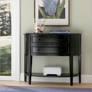 Powell Furniture Antique Black Demilune Black /Sofa Console Table