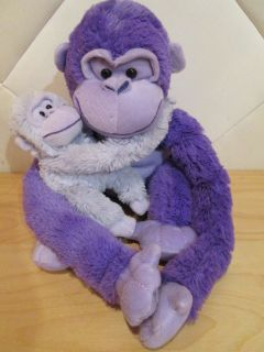 Animal Alley Toys R Us Plush Purple Gorilla Monkey Ape Velcro Hands 16