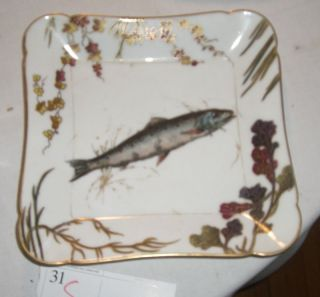 Antique Haviland Limoges Porcelain Fish Dish