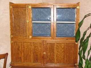 Antique Oak kitchen Wilson Hoosier Cabinet  Great in your Home