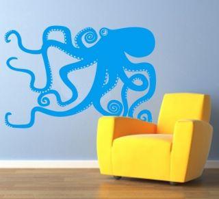Octopus Swimming in Ocean Sea Creature Tentacle Animals Vinyl Sticker