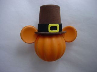 Disney Pilgrim Pumpkin Mickey Head Antenna Topper