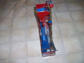 Vintage Antique Tin Metal Sand Toy Mechanical Lift Made in USA