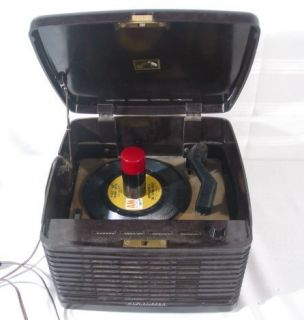 Vintage RCA 45 YE 3 Victor Victrola 45 RPM Bakelite Portable Record
