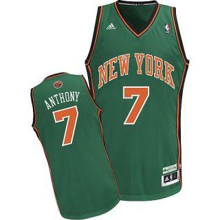 Carmelo Anthony NY Knicks St Patricks Day Adidas Swingman Jersey Mens