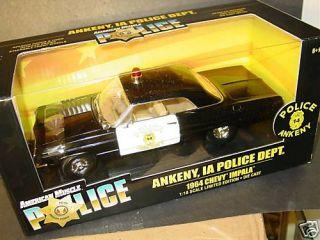 Ertl 1 18 1964 Chevy Impala Ankeny IA Police Car