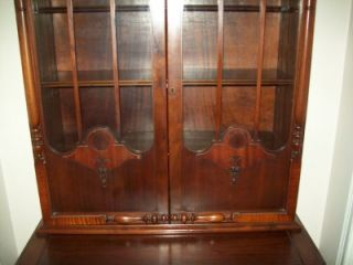 Antique Art Deco Era Secretary Desk Display Cabinet Beautiful Details