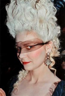 Exceptionally Well Crafted White Curl Marie Antoinette Style Wig Tall