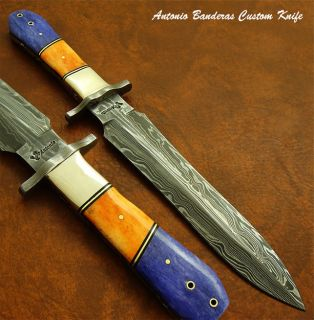 Antonio Banderas EXQUISITE RARE 1 OF A KIND CUSTOM DAMASCUS ART DAGGER