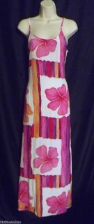 ANTONIO MORENO COUTURE SMALL MAXI SUN DRESS HOT ORANGE HOT PINK PURPLE