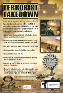 Terrorist Takedown Spec Ops PC Shooter Game New Box XP 187124000038