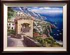 SAM PARK From Positano To Amalfi Original Art canvas, Publisher COA