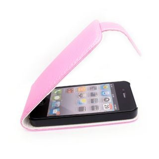 Leather Case Pouch Cover Holster Clip For Apple Iphone 4 4G Cell Phone