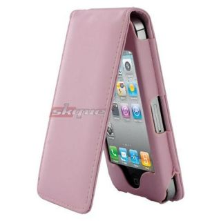 Leather Case Cover Cute Accessory For Apple Iphone 4 4th Generation
