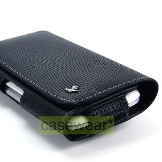 Luxmo Leather Pouch LU9HBK Belt Clip Case for Apple iPhone 4S 4 3GS 3G