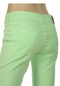 Gabbana D G Lime Green Stretch Cotton Logo Capri Jeans Pants 28