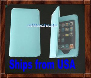 New Blue Leather Case Skin for Apple iPod Touch iTouch