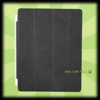 Apple Smart Cover For iPad 2 3 Navy Blue Leather Magnetic Folding Case