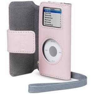 Apple iPod Nano 1G 2G 1st 2nd Gen Belkin Pink Folio Leather Case & LCD
