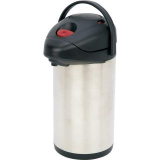 Stainless Steel Coffee Vacuum Air Pot ~ Lever Push Button Hot Beverag