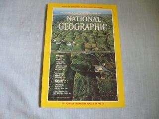 NATIONAL GEOGRAPHIC April 1981 NORTHERN IRELAND +MAP Gorillas