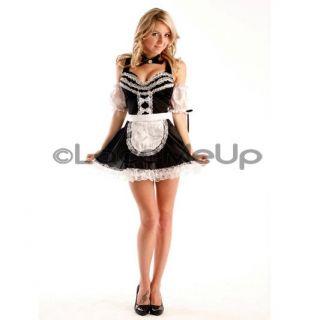 French Maid Costume Fancy Dress Ladies Plus Sz 16 18 20
