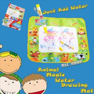 New Aquadoodle Water Animal Drawing Mat Magic Pen Child Kids Baby Toy