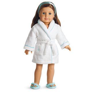 Cozy Star Robe Spa Flip Flop Slippers Girls Doll Size Medium