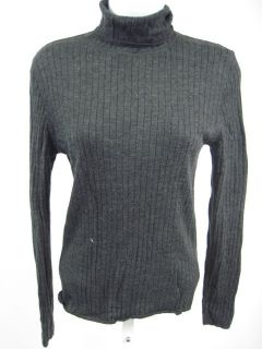 Anne Klein Gray Turtleneck Wool Sweater Shirt Sz L