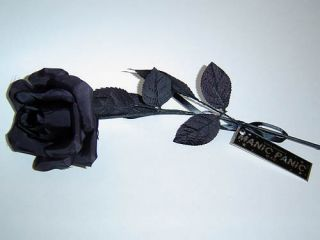 New Manic Panic Gothic Punk Long Stem Black Rose Goth