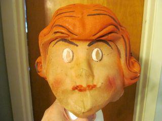 Vintage 1920s Little Orphan Annie Halloween Costume Mask Ben Cooper