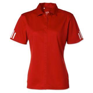 Ladies Adidas Golf ClimaLite 3 Stripe Womens Polo Shirt