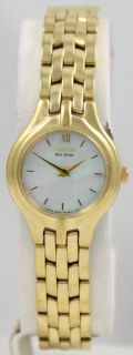Ladies Citizen Eco Drive Gold Tone Mother of Pearl Heart Crystal