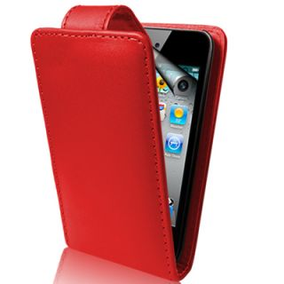 flip leather case screen protector for apple ipod touch 4th generation