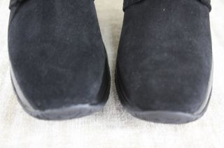 Aquatalia Marvin K Brass Black Suede Wedge Ankle Boots Size 8 $375 New