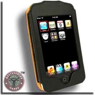 Genuine Leather Case for Apple iPod Touch A 3rd 2nd 1st Gen Black