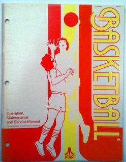 Atari Arcade Game Basketball Operation Maintenance and Service Manual