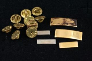 wwii us military army gold silver insignia bar pins