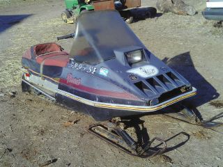Vintage 1980 Arctic Cat Pantera Snowmobile for restore parts