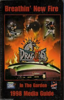 1998 Portland Forest Dragons Arena Football League Media Guide AFL
