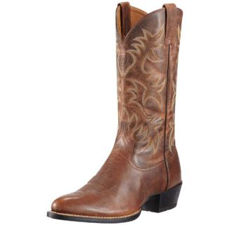 Ariat Mens Heritage R Toe Western Cowboy Boot Weathered Chestnut