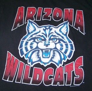University of Arizona Wildcats Vintage Shirt Large College Retro Tee
