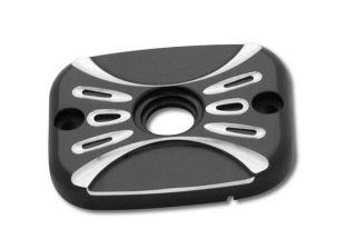 Arlen Ness Brake Master Cylinder Cover Deep Cut Black Harley FXST 2006
