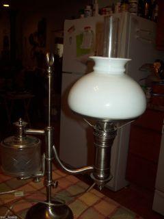 Antique Student Desk Table Lamp Vintage Circa 1880S
