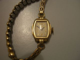 Antique Ladies Bulova Watch Rolled 10K Gold Plated 1930s