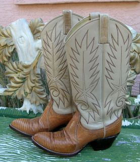 Boots Dan Post Wms 5 Armadillo Teju Lizard Caramel Beauties Free SHIP