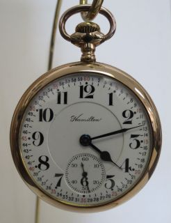 ANTIQUE HAMILTON 992 GOLD FILLED POCKET WATCH**~**SUPERB**~**