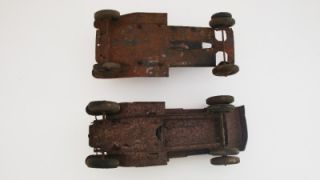 Antique Pressed Steel 1930s Toy Trucks Metalcraft Wyandotte 2 Old Toy