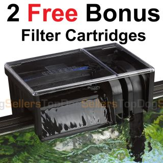 Aquarium Power Filter Hang On Freshwater Tropical Fish Discus Media