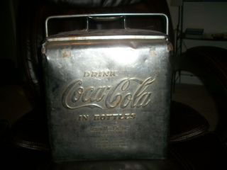 Stainless Coca Cola Cooler w Opener Acton Mfg Arkansas City